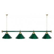Лампы для бильяр.столов 4-х плафонн.зеленая штанга З-4