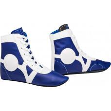 Самбовки (обувь для самбо) Rusco SM-0102 (кожа, синий)