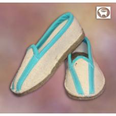 Туфли комнатные войлочные с задником