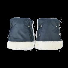 Муфта-варежки для рук на санки мех