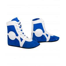 Самбовки (обувь для самбо) Rusco RS001/3 (замша, синий)