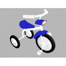 Велосипед трехколес. 01Ф (пластмассовые колеса с широкой шинкой, фара)